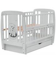Кровать Babyroom Собачка маятник, ящик, откидной бок DSMYO-3 бук серый