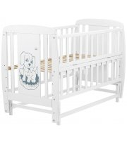 Кровать Babyroom Собачка маятник, откидной бок DSMO-02 бук белый