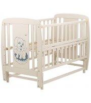 Кровать Babyroom Собачка маятник, откидной бок DSMO-02 бук слоновая кость