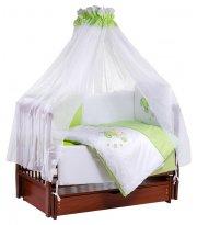 Детская постель Tuttolina Sweet Kitty (7 элементов) 30 салатовый-белый (котик с волшебной палочкой)