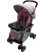 Коляска прогулочная Everflo E-303 pink/grey
