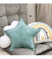 Подушка Звезда декор Мятная