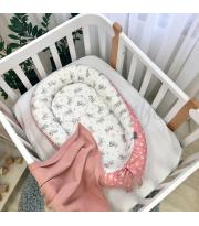 Кокон Baby Design Baby серо-пудровый