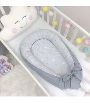 Кокон Baby Design Звезды на сером