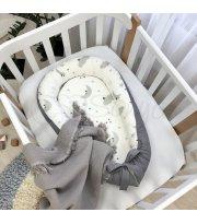 Кокон Baby Design Облака серые с месяцем