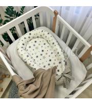Кокон Baby Design Stars серо-бежевый