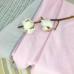 Плед Муслин серо-розовый