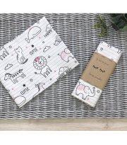 Пеленка бязь Baby Animals розовый
