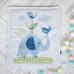 Плед-конверт Арт дизайн Слоник голубой