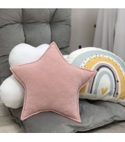 Подушка Звезда декор Пудра