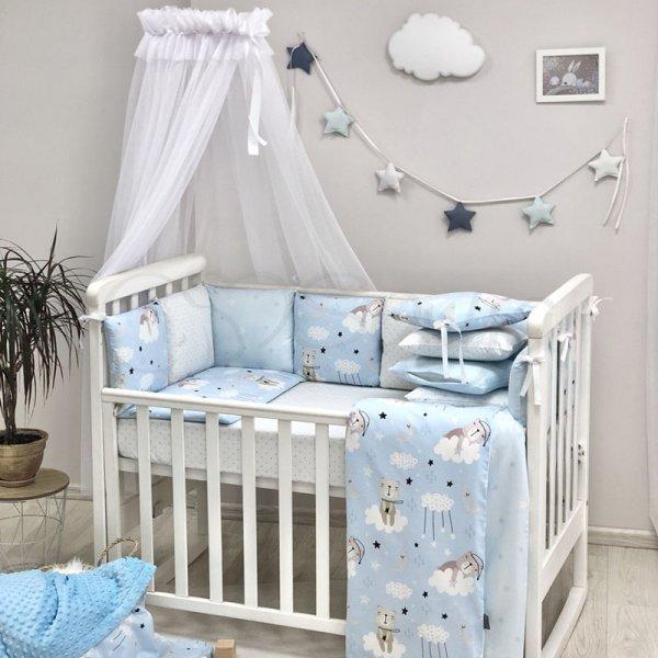 Baby Design Коты в облаках голубой