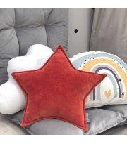 Подушка Звезда декор Терракот