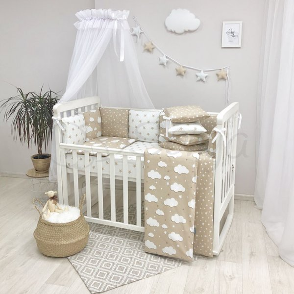 Комплект Baby Design Облака бежевые