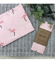 Пеленка бязь Фламинго на розовом