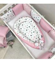 Кокон Baby Design Stars серо-розовый