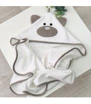 Полотенце-уголок Мишка молочный