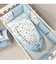 Кокон Baby Design Stars серо-голубой