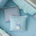 Комплект Зайчики голубой