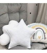 Подушка Звезда декор Белая