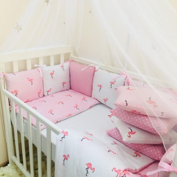 Бортики Baby Design Фламинго