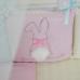 Комплект Зайчики розовый