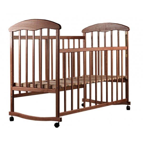 """Кроватка для новорожденных Наталка """"Ясень темный"""""""