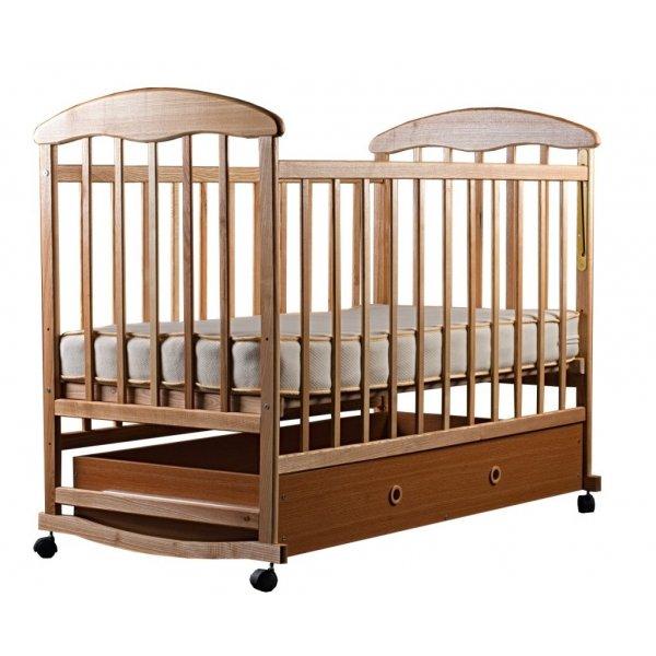 Кроватка для новорожденных Наталка (светлая с ящиком)