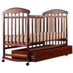 Кроватка для новорожденных Наталка (тонированная с ящиком)