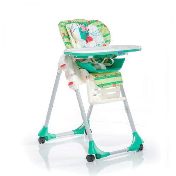 Стульчик для кормления Chicco NEW Polly зелёный (79074.03)