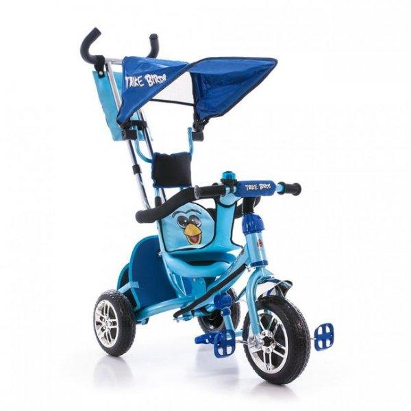 Трехколесный велосипед Azimut Angry Birds голубой