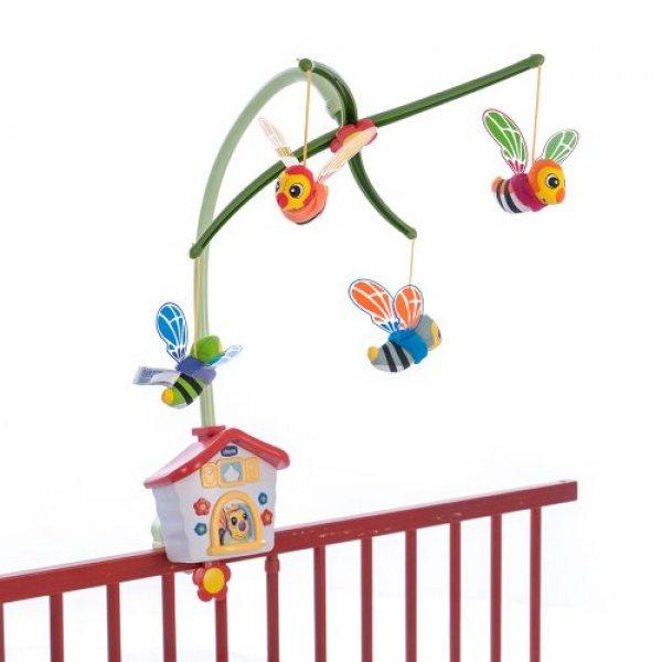 Механический мобиль на детскую кроватку Chicco Пчелиный домик разноцветный (67099.00)