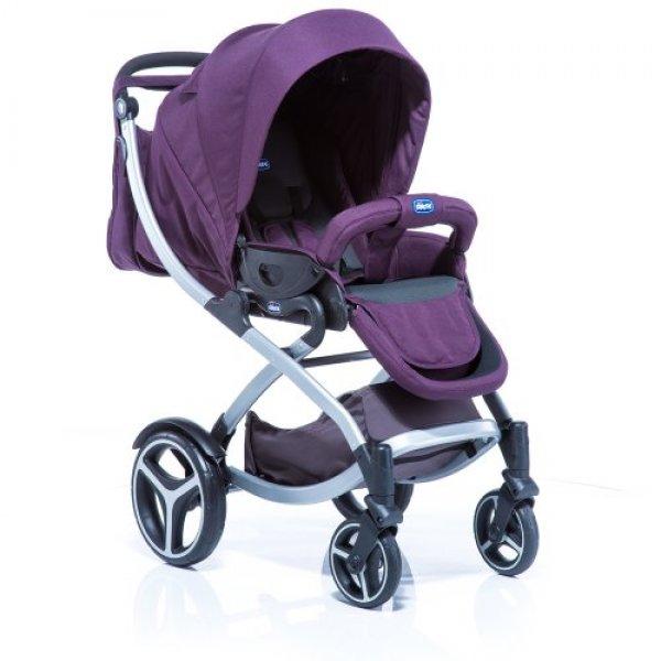 Коляска 2 в 1 Chicco Artic Stroller Complete фиолетовая с черным (79375.74.02)