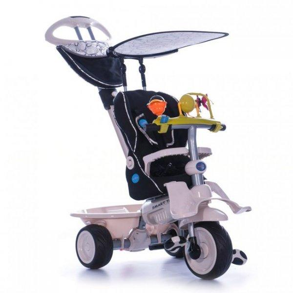 Трехколесный велосипед 4 в 1 Recliner Stroller черный Smart Trike