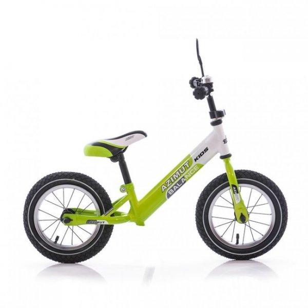 Беговел Balance bike графит-салатовый Azimut