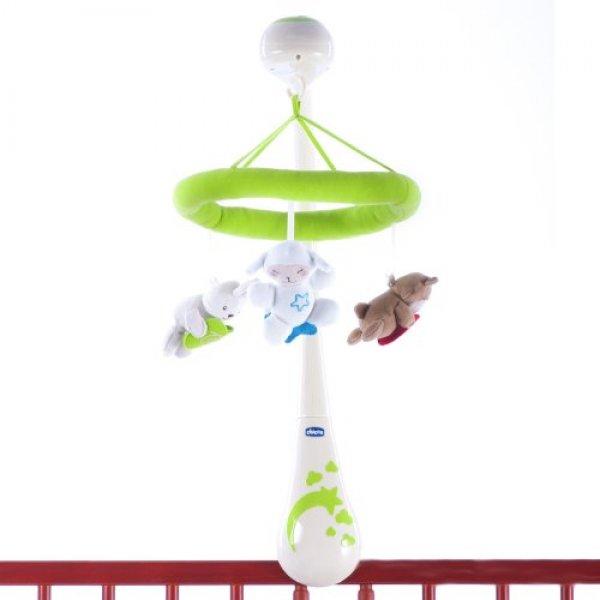 Мобиль на детскую кроватку Chicco Сладкие сны бело-зеленый (02290.00)