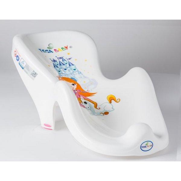 Горка для купания антискользящая Tega LP-003 Принцесы белый