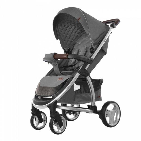 Коляска прогулочная CARRELLO Vista CRL-8505 Steel Grey