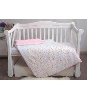 Сменная постель 3 эл Twins Eco Line New 3091-E-023, Bunnies pink, розовый