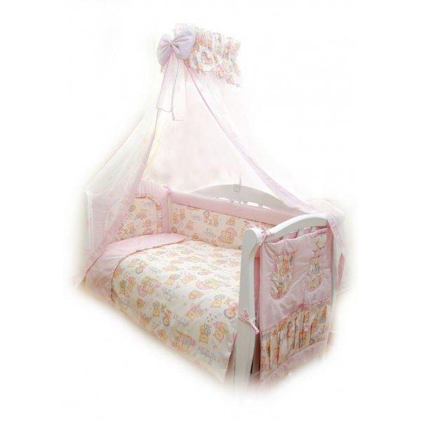 Постельный комплект Twins Comfort C-013 Пушистые медведи розовая