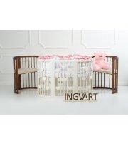 Кровать IngVart Smartbed Round Сердечки слоновая кость, бежевый