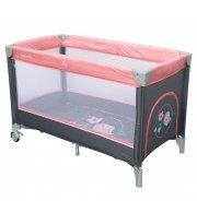 Манеж - кровать Baby Mix HR-8052 Воробышки HR-8052 Bird, pink, розовый