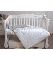 Сменная постель 3 эл Twins Eco Line New 3091-E-025, Teddy white / grey, белый / серый