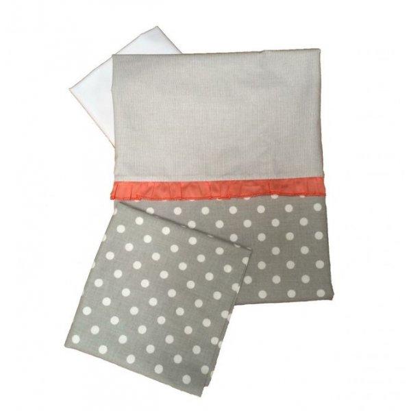 Сменная постель Twins Premium P-003 Glamur серый/корал