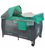 Манеж - кровать Baby Mix De Lux HR-8052 HR-8052-301, mint, м
