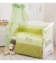 Постельный комплект 8 эл Twins Evo Кот и пес 4073-А-105, green, зеленый