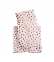 Набор в коляскуTwins муслиновый Air (плед, подушка, наматрасник на рез) 1499-TMB-12, Crab, белый/красный
