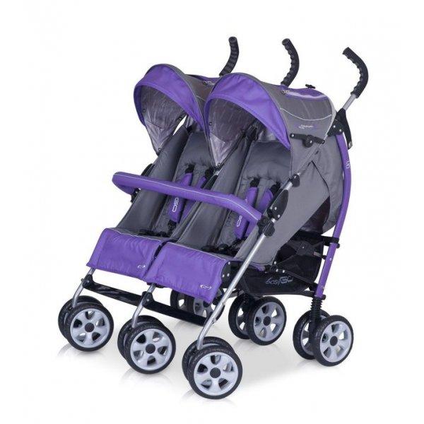 Коляска для двойни EASY GO COMFORT DUO violet