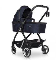 Коляска 2 в 1 Euro-Cart Crox Cosmic blue, черный