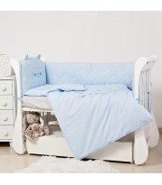 Постельный комплект 6 эл Twins EVO Miu 4073-EVK-04 Blue, голубой