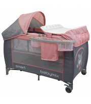 Манеж - кровать Baby Mix De Lux HR-8052 HR-8052-302, pink, розовый